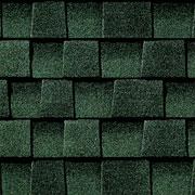 GAF Hunter Green Roof Shingles