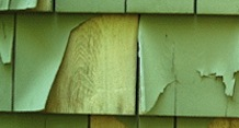 peeling wood siding