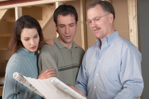 contractor with customers