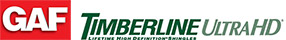 GAF Timberline HD roof logo