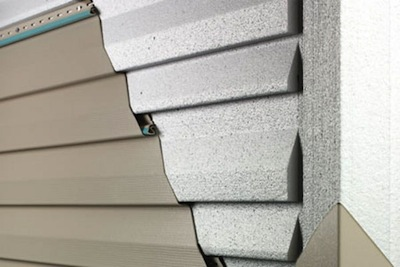 vinyl siding cutaway section with insulation