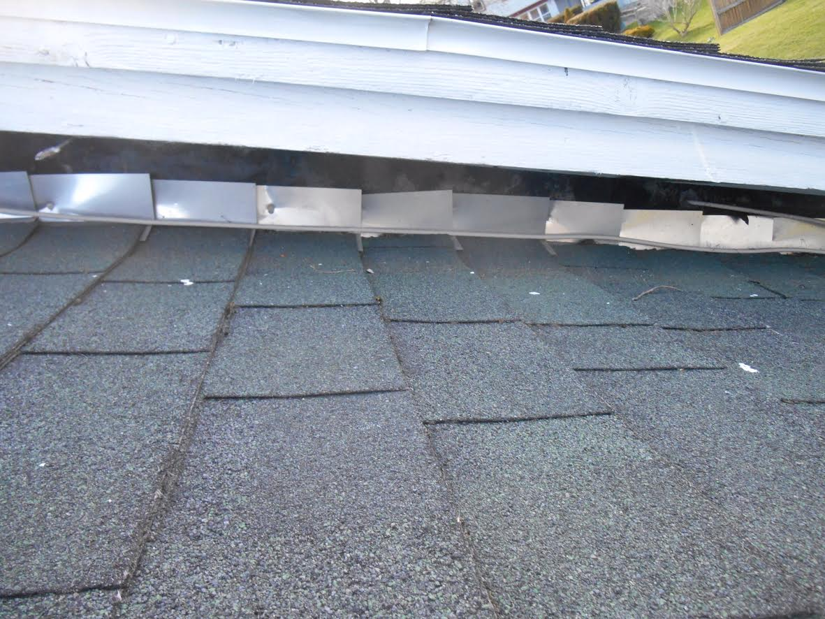 improperly installed roof flashing