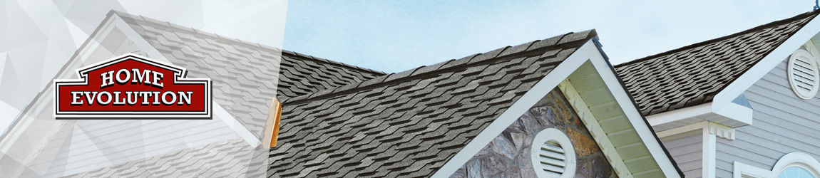 new installed designer roof shingles on house