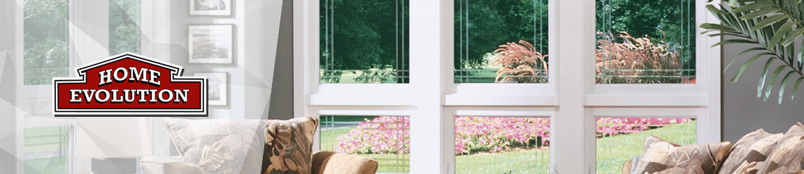 windows with view to outside garden