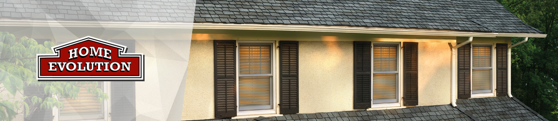 gray roof shingles vinyl windows