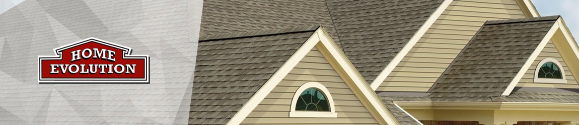 roof section with brown architectural shingles