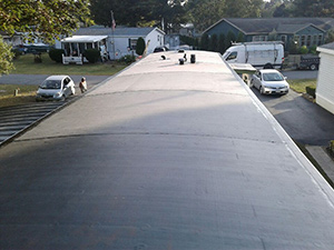 finished EPDM rubber flat roof black