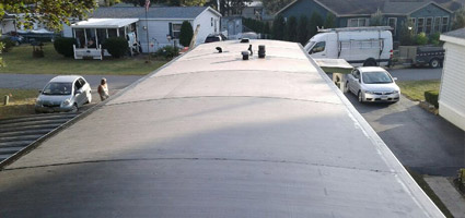EPDM flat roof installed in Albany, NY