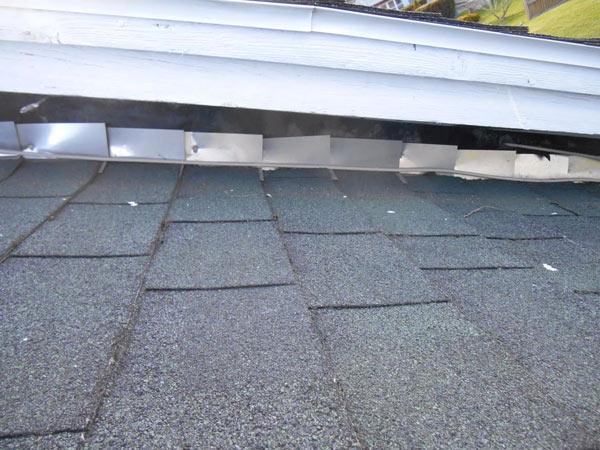 improperly installed roof flashing