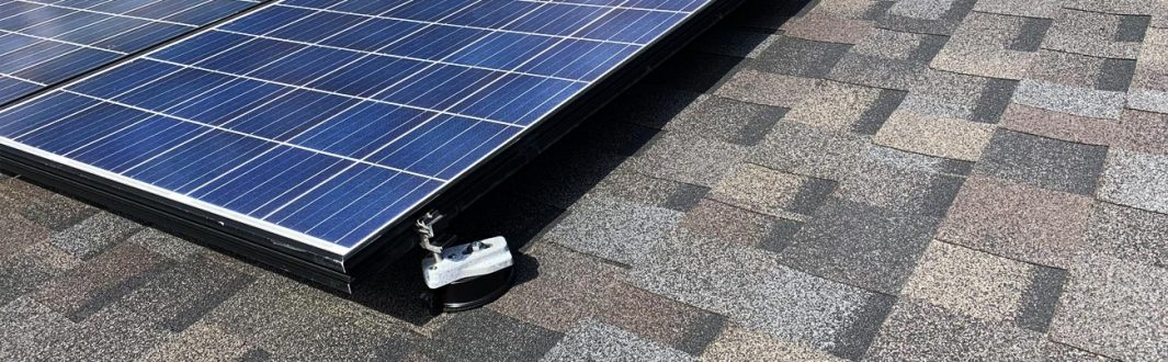 solar panels on shingle roof