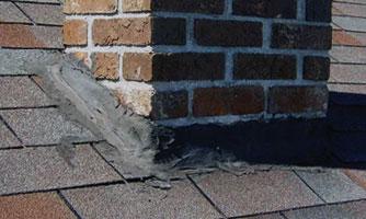 failing chimney flashing