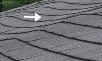 visible dips on roof decking